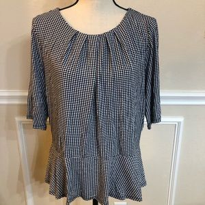 Liz Claiborne Top - Short Sleeve XL Black & White
